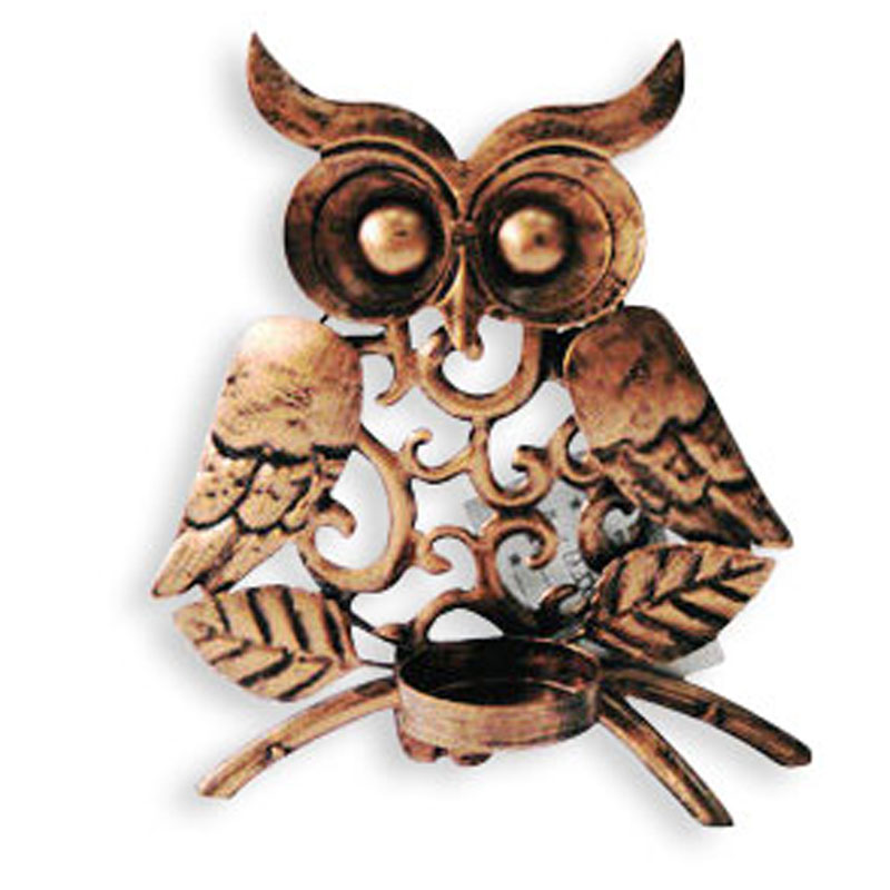 Metal Owl Stand Candle Holder For Home Decoration