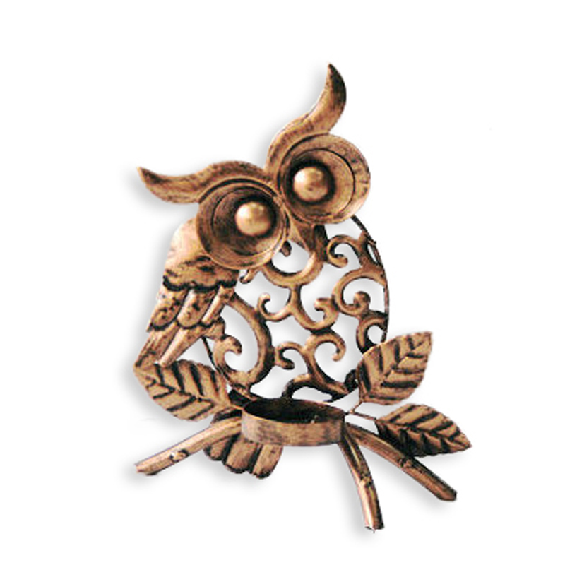 Wholesale Owl Metal Canndle Holder