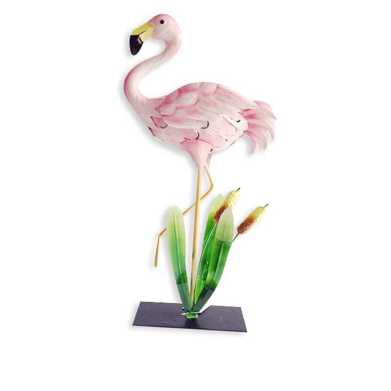 Metal Satue Flamingos Model Garden Decor Design