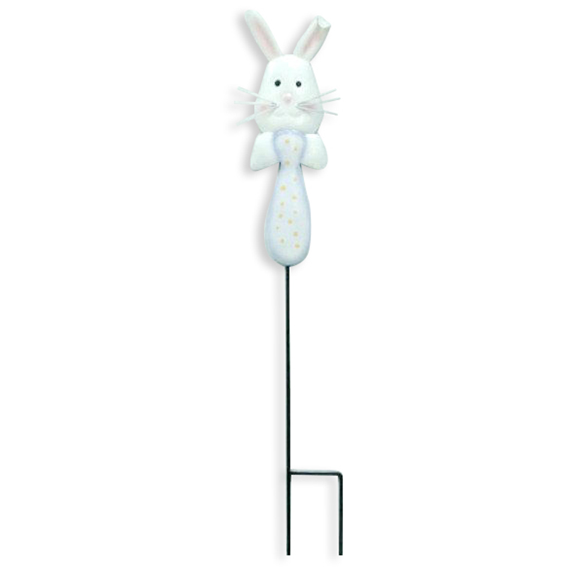 Metal Rabbit Garden Stake
